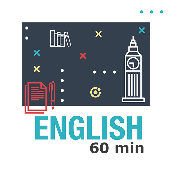English 4 lessons (60 min)