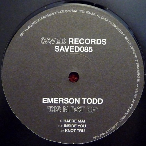 Emerson Todd - ''Dis N Dat EP''