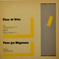 Klaas de Vries, Peter-Jan Wagemans - ''Follia / Bewegingen (Movements) / Muziek II''