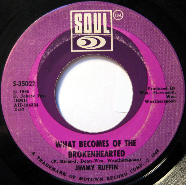 Jimmy Ruffin - ''What Becomes Of The Broken Hearted''