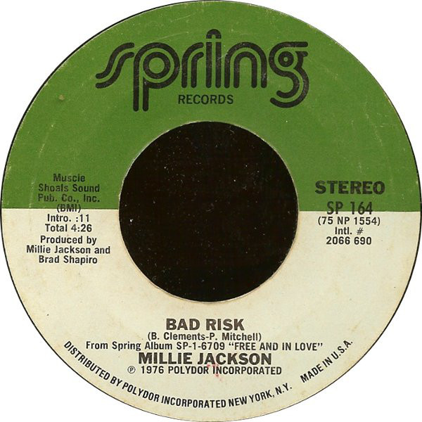 Millie Jackson - ''Bad Risk / There You Are''
