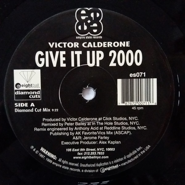 Victor Calderone - ''Give It Up 2000''