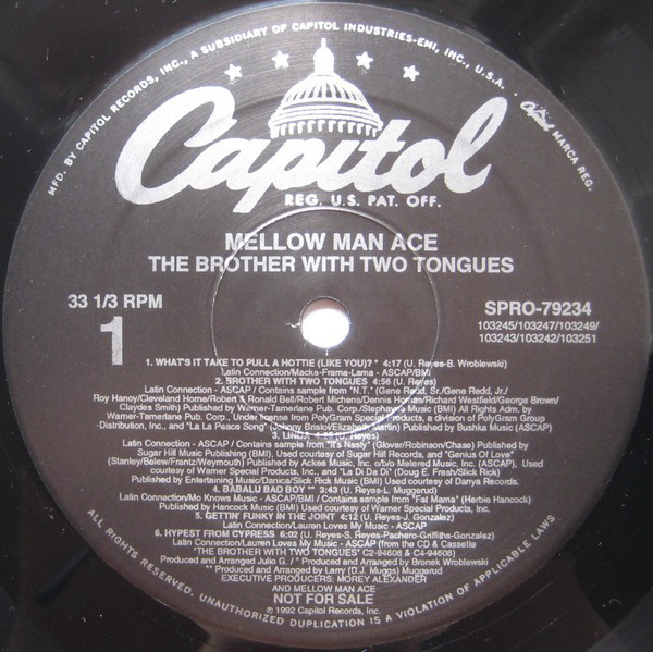 Mellow Man Ace - ''The Brother With Two Tongues''