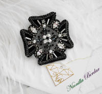 Order Brooch with Swarovski Crystals and Pearls