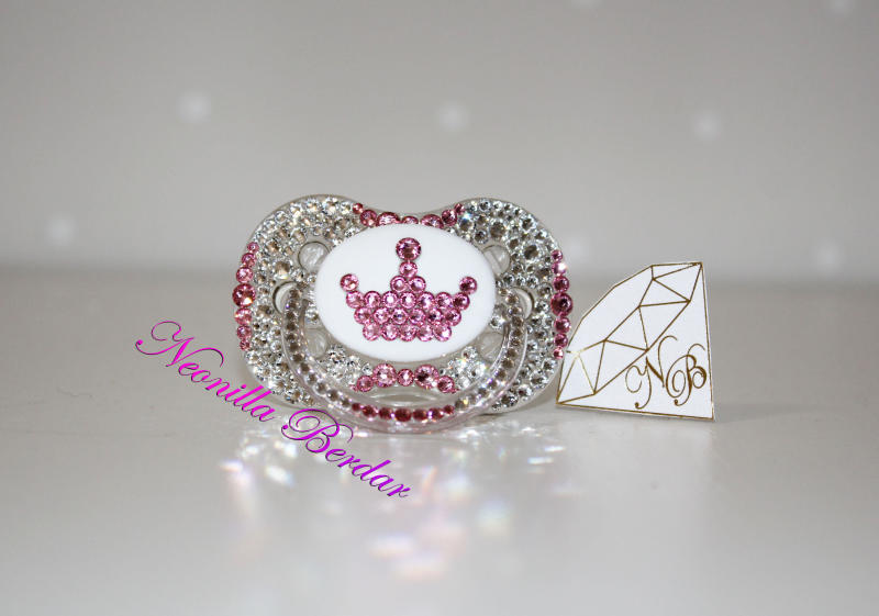 Bling Crown Canpol Babies Pacifier With Swarovski Crystals