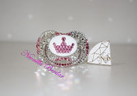 Bling Crown Canpol Babies Pacifier with Swarovski Crystals. Bling Dummy