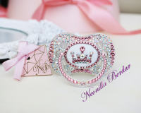 Bling Elite Crown Canpol Babies Pacifier with Swarovski Crystals. Bling Dummy