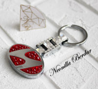 Hyundai Premium Red keychain with Swarovski Crystals. Bling keychain