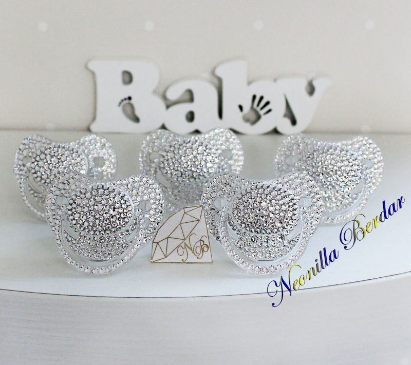 Bling Crystal Orthodontic Canpol Babies Pacifier With