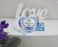Personalized Blue Canpol Babies Orthodontic Pacifier with Swarovski Crystals. Bling Dummy