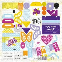 Лист высечек Die Cuts #02 - Plans for Today, Lemon Owl