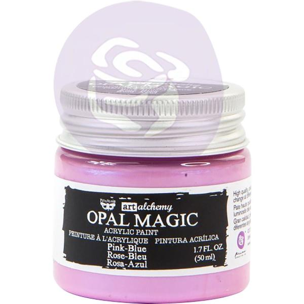 Акриловая краска Finnabair Art Alchemy Opal Magic Acrylic Paint 1.7 Fl Oz Pink/Blue