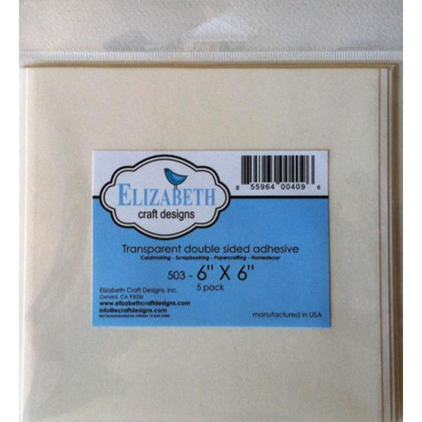 Клеевый листы Elizabeth Craft Clear Double-Sided Adhesive Sheets 15х15 см