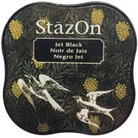 StazOn Midi Ink Pad Jet Black