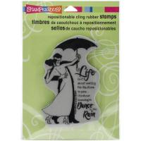 Штамп Rain Dance, Stampendous Cling Stamp