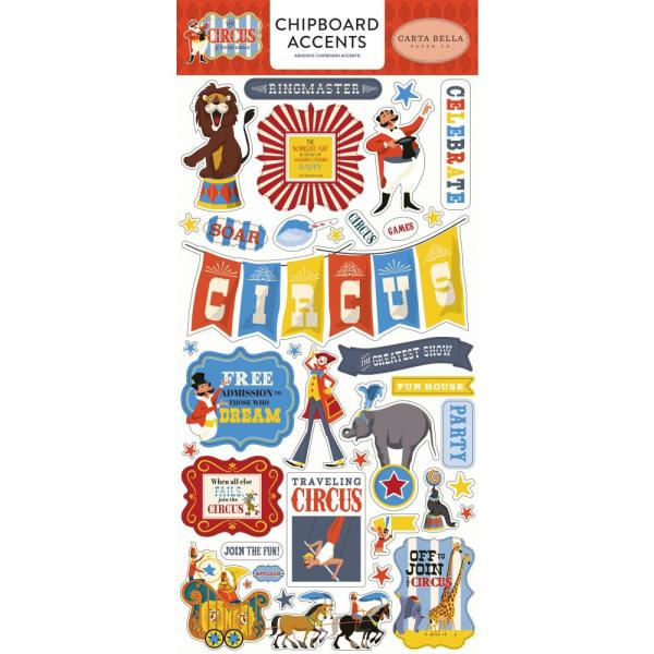 "Чіпборд Circus Chipboard 6""X13"" Accents, Carta Bella"