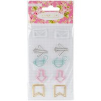 Декоративные скрепки Color Crush Travelers' Paper Clip Accents 10/Pkg