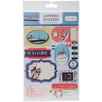 Объемные наклейки Let's Cruise Layered Stickers, Carta Bella