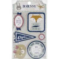 Многослойные наклейки Little Wonders Adhesive Layered Chipboard, BoBunny