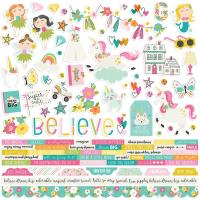 "Наклейки Dream Big Cardstock Stickers 12""X12"", Simple Stories"