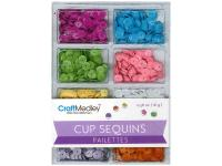 Пайетки Cup Sequins 7mm Baby, Multicraft Imports
