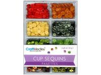 Пайетки Cup Sequins 7 мм Citrus 16gm, Multicraft Imports