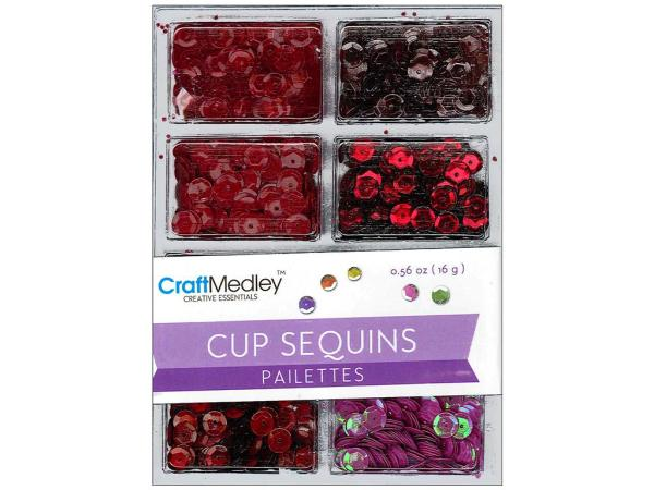 Пайетки Cup Sequins 7 мм Rouge, Multicraft Imports