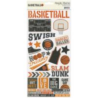"Наліпки Cardstock Stickers 6""X12"" Basketball, Simple Stories"