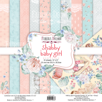 Набор скрапбумаги Shabby baby girl redesign 30,5х30,5см, Фабрика Декору