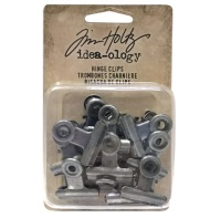 "Зажим Idea-Ology Metal Hinge Clips 1"" Antique Nickel 1 шт, Tim Holtz"