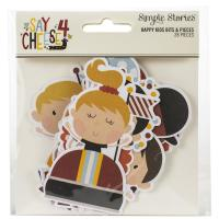 Набор высечек Say Cheese 4 Happy Kids Bits & Pieces Die-Cuts, Simple Stories