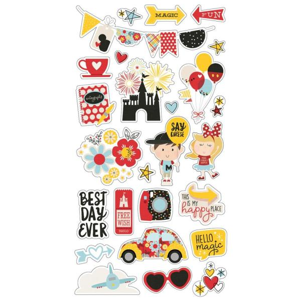 "Чипборд Say Cheese 4 Chipboard Stickers 6""X12"", Simple Stories"