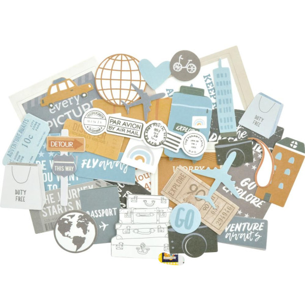 Бумажные высечки Kaisercraft Collectables Cardstock Die-Cuts Let's Go