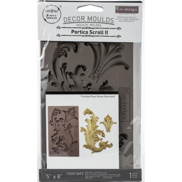 "Молд Finnabair Decor Moulds 5""X8"" Portico Scroll 2, Prima Marketing"