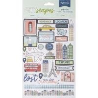 Набор стикеров Cityscapes Stickers 6 листов, My Minds Eye