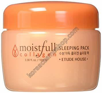 Маска с коллагеном и экстрактом баобаба Etude House Collagen Moistfull Sleeping Pack
