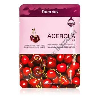 Тканевая маска с экстрактом ацеролы FarmStay Visible Difference Mask Sheet Acerola