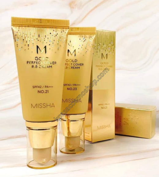 Матирующий ВВ-крем с бархатным покрытием Missha M Gold Perfect Cover B.B Cream (SPF42/PA+++) №21