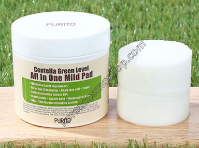 Диски для очищения кожи Centella Green Level All In One Mild Pad Purito