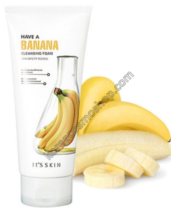 Пенка с бананом и бамбуком It's Skin Have a Banana Cleansing Foam