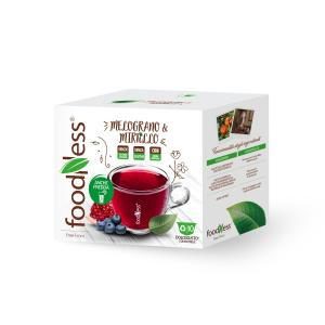 FoodNess Гранат з чорницею 10 капсул Dolce Gusto
