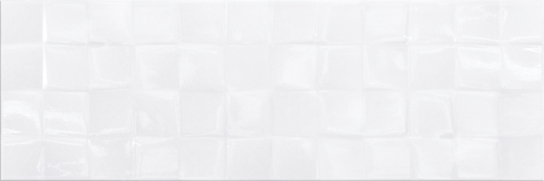 Плитка SIMPLE ART WHITE GLOSSY STRUCTURE CUBES  20х60 Cersanit