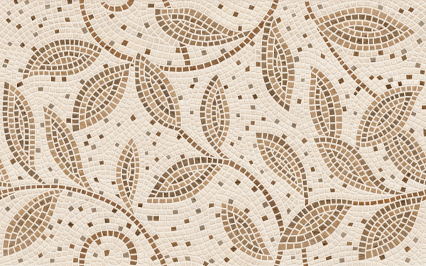 Плитка Travertine Mosaic коричневий 25х40