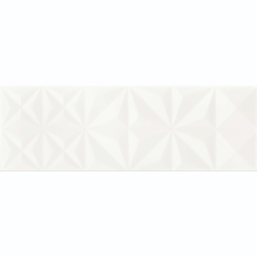 Плитка VIVID Colour WHITE GLOSSY SQUARES STRUCTURE 25X75