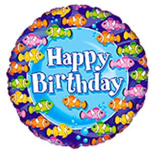 "FM Круг И-157 HAPPY BIRTHDAY CLOWNFISH TEAM 18"" 401527"
