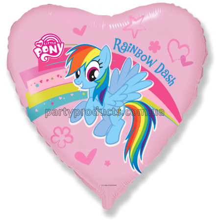 "FM Сердце И-205 MY LITTLE PONY RAINBOW 18"" 201689"