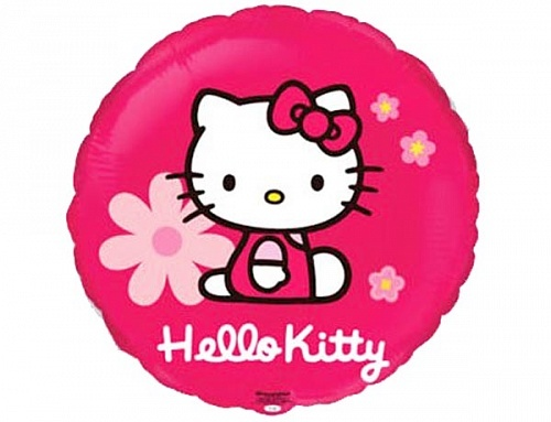 "FM Круг И-207 HELLO KITTY FLOWERS 18"" 401567, шт."